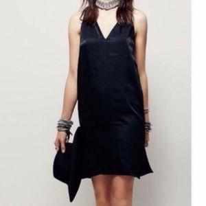 NWT Zara Black Halter Minimalist Slip Dress